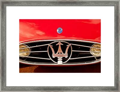 1954 Maserati A6 Gcs Grille Emblem -0259c Framed Print