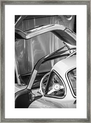 1954 Mercedes-benz 300sl Gullwing Steering Wheel -1653bw Framed Print by Jill Reger