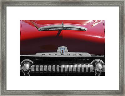 1954 Mercury Monterey Hood Ornament Framed Print by Jill Reger