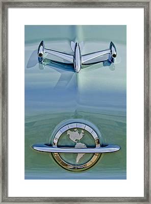 1954 Oldsmobile Super 88 Hood Ornament Framed Print by Jill Reger