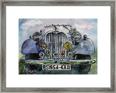 1954 Singer Car 4 Adt Roadster Framed Print