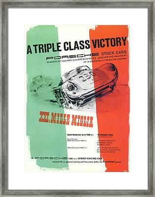 1954 Xxi Mille Miglia Framed Print by Georgia Fowler