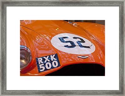 1955 Aston Martin Db3s Sports Racing Car Hood 2 Framed Print by Jill Reger
