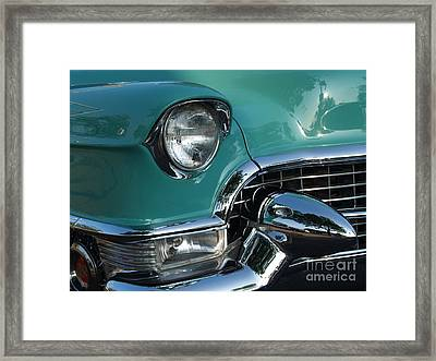 1955 Cadillac Coupe De Ville Closeup Framed Print