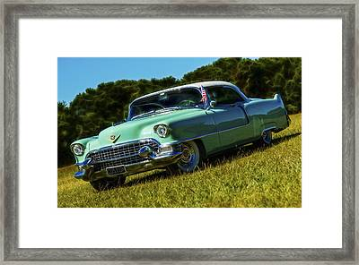 1955 Cadillac Coupe De Ville Framed Print by motography aka Phil Clark