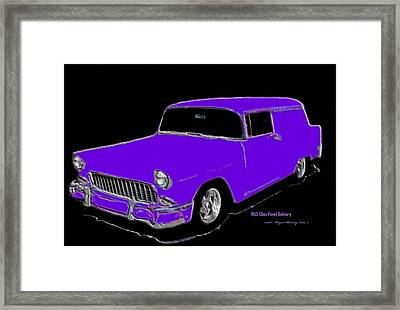 1955 Chev Panel Delivery P Framed Print by Wayne Bonney