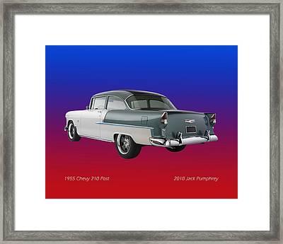1955 Chevrolet 210 Framed Print by Jack Pumphrey