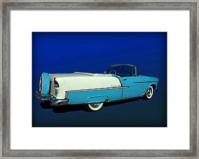 1955 Chevrolet Bel Air Convertible With Continental Kit Framed Print by Tim McCullough