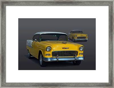 1955 Chevrolet Bel Air Hot Rod Framed Print