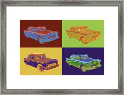 1955 Chevrolet Bel Air Pop Art Framed Print by Keith Webber Jr