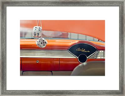 1955 Chevrolet Belair Dashboard Framed Print by Jill Reger