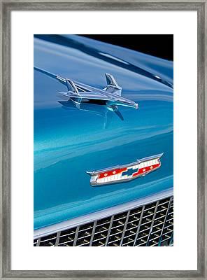 1955 Chevrolet Belair Hood Ornament 7 Framed Print