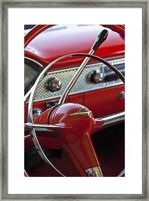 1955 Chevrolet Belair Nomad Steering Wheel Framed Print