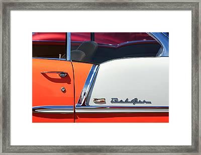 1955 Chevrolet Belair Side Emblem Framed Print