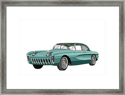 1955 Chevrolet Biscayne Concept Framed Print