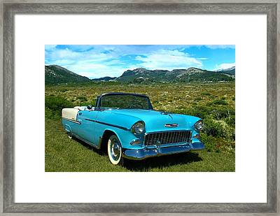 1955 Chevrolet Convertible Framed Print