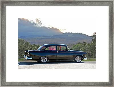 1955 Chevrolet Custom Coupe Framed Print by Dave Koontz