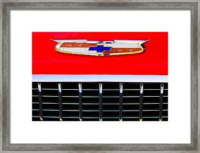 1955 Chevrolet Nomad Emblem Framed Print by Jill Reger