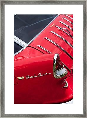 1955 Chevrolet Nomad Wagon Taillight Emblem Framed Print by Jill Reger