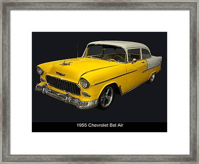 1955 Chevy Bel Air Harvest Gold Framed Print by Chris Flees