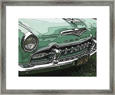 1955 Desoto Grille Framed Print by Samuel Sheats