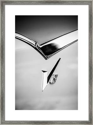 1955 Dodge Royal Lancer V8 Emblem -0639bw Framed Print