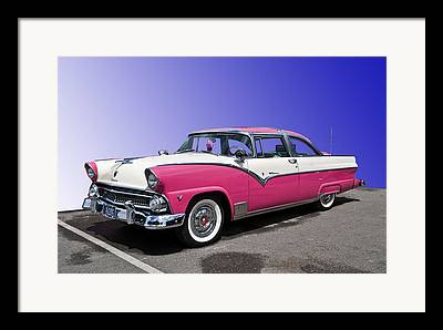 Pink Hot Rod Framed Prints