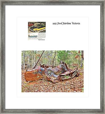 1955 Ford Fairlane Victoria Framed Print by Gordon Elwell