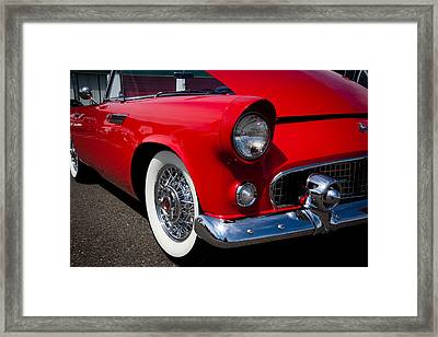 1955 Ford T-bird Framed Print by David Patterson