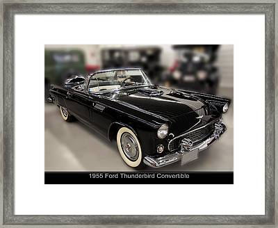 1955 Ford Thunderbird Convertible Framed Print by Chris Flees