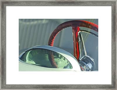 1955 Ford Thunderbird Steering Wheel Framed Print by Jill Reger