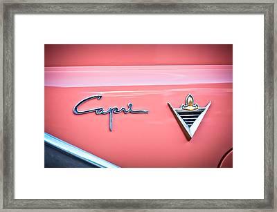 1955 Lincoln Capri Emblem 2 Framed Print by Jill Reger