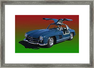 1955 Mercedes Benz 300 S L  Framed Print