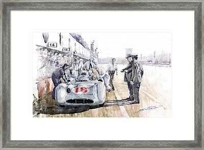 1955 Mercedes Benz W 196 Str Stirling Moss Italian Gp Monza Framed Print