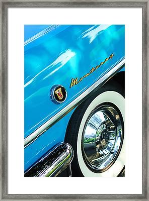 1955 Mercury Monterey Wheel Emblem Framed Print by Jill Reger