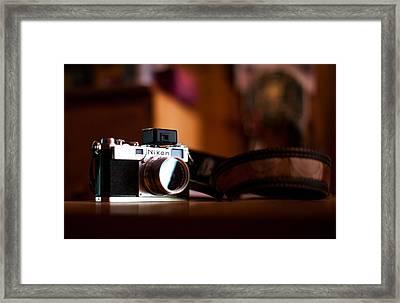 1955 Nikon S2 Framed Print by Aaron Aldrich