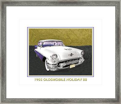 1955 Olds Holiday 88 Framed Print by Jack Pumphrey