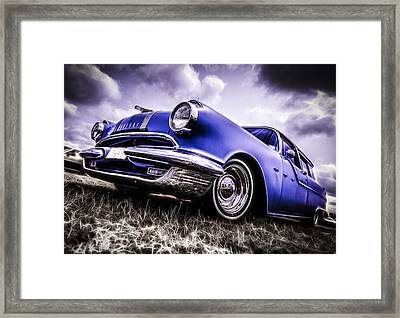 1955 Pontiac Safari Framed Print by motography aka Phil Clark