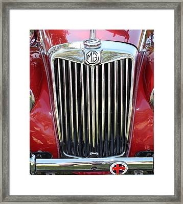 1955 Red Mg Grille Framed Print by Mark Steven Burhart
