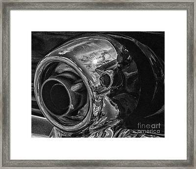 1955 T-bird Exhaust Chrome Framed Print by JRP Photography