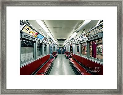 1955 Vintage Nyc Subway Train Framed Print