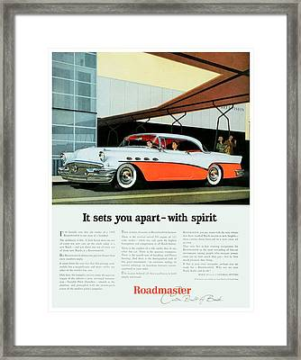 1956 - Buick Roadmaster Convertible - Advertisement - Color Framed Print