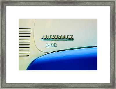 1956 Chevrolet 3100 Pickup Truck Emblem Framed Print