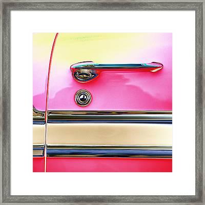 1956 Chevrolet Bel Air Framed Print by Carol Leigh