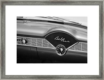 1956 Chevrolet Bel Air Convertible Painted Bw Framed Print by Rich Franco