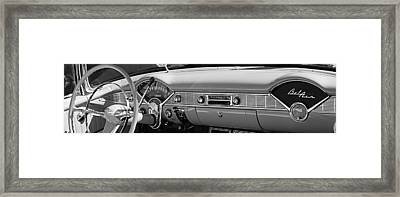 1956 Chevrolet Belair Convertible Custom V8 Dashboard Framed Print by Jill Reger