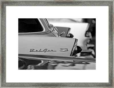 1956 Chevrolet Belair Nomad Rear End Emblem Framed Print by Jill Reger