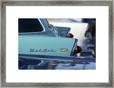 1956 Chevrolet Belair Nomad Rear End Framed Print by Jill Reger