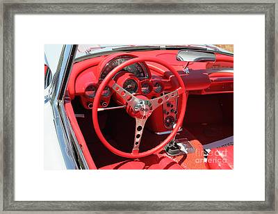 1956 Chevrolet Corvette 5d23556 Framed Print by Wingsdomain Art and Photography
