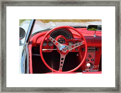 1956 Chevrolet Corvette 5d23557 Framed Print by Wingsdomain Art and Photography
